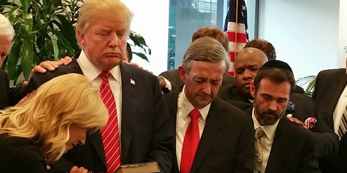 trump in prayer untitled