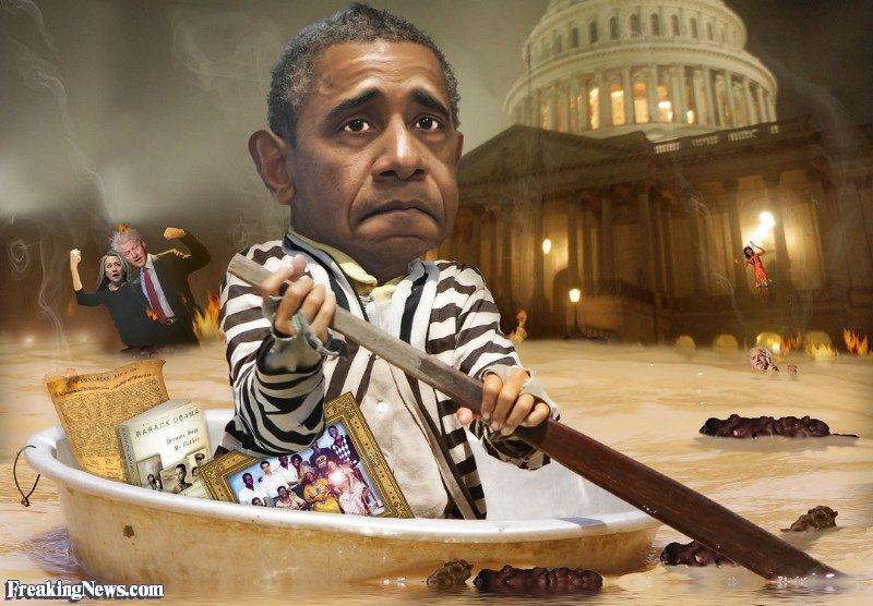 OBAMA Barack-Obama-Up-a-Creek-without-a-Paddle--102865