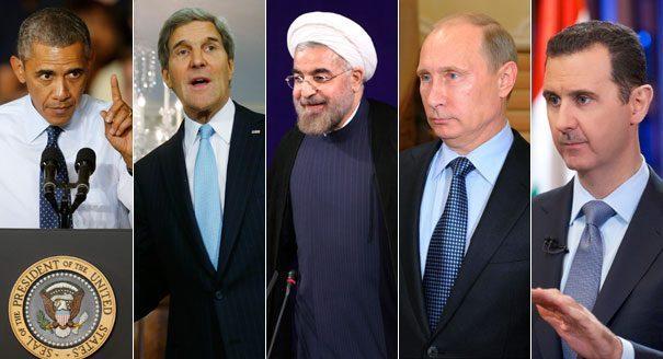 ASSAD 132313_obama_kerry_rouhani_putin_assad_aps_605