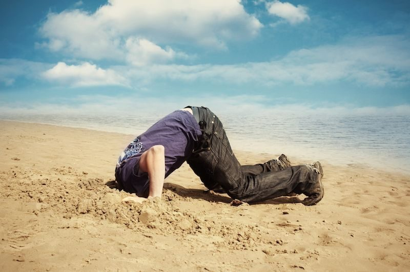 SAND Bury-your-Head-in-the-sand