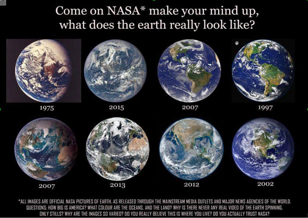flat earth NASAsdifferentEarthspheres