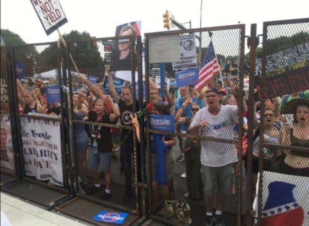 Bernie-supporters-locked-out