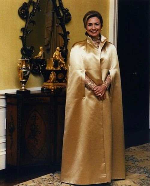 hillary gold dress
