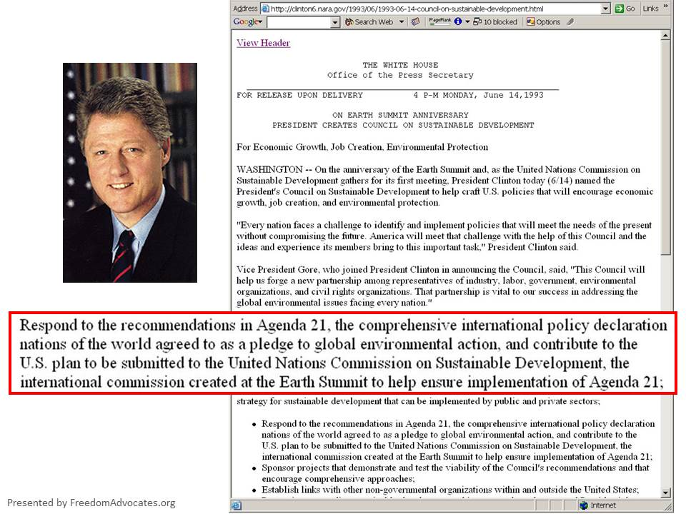 bill Presidents-Council-on-SD_Clinton-letter
