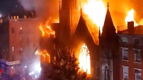 128 Year Old Church Burns In Manhattan- Is This Symbolic?