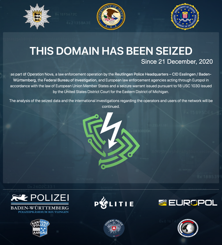 BOOM! CYBERCRIMINALS' VIRTUAL PRIVATE NETWORK TAKEN DOWN IN GLOBAL ACTION!