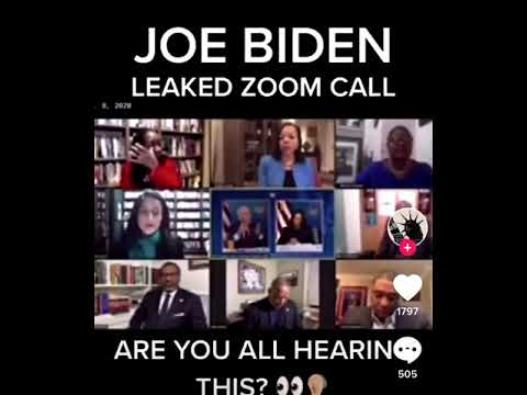 ZOOM CALL LEAKED - BIDEN DECLARES THIS COUNTRY IS DOOMED ALONG WITH WHITE EUROPEANS!