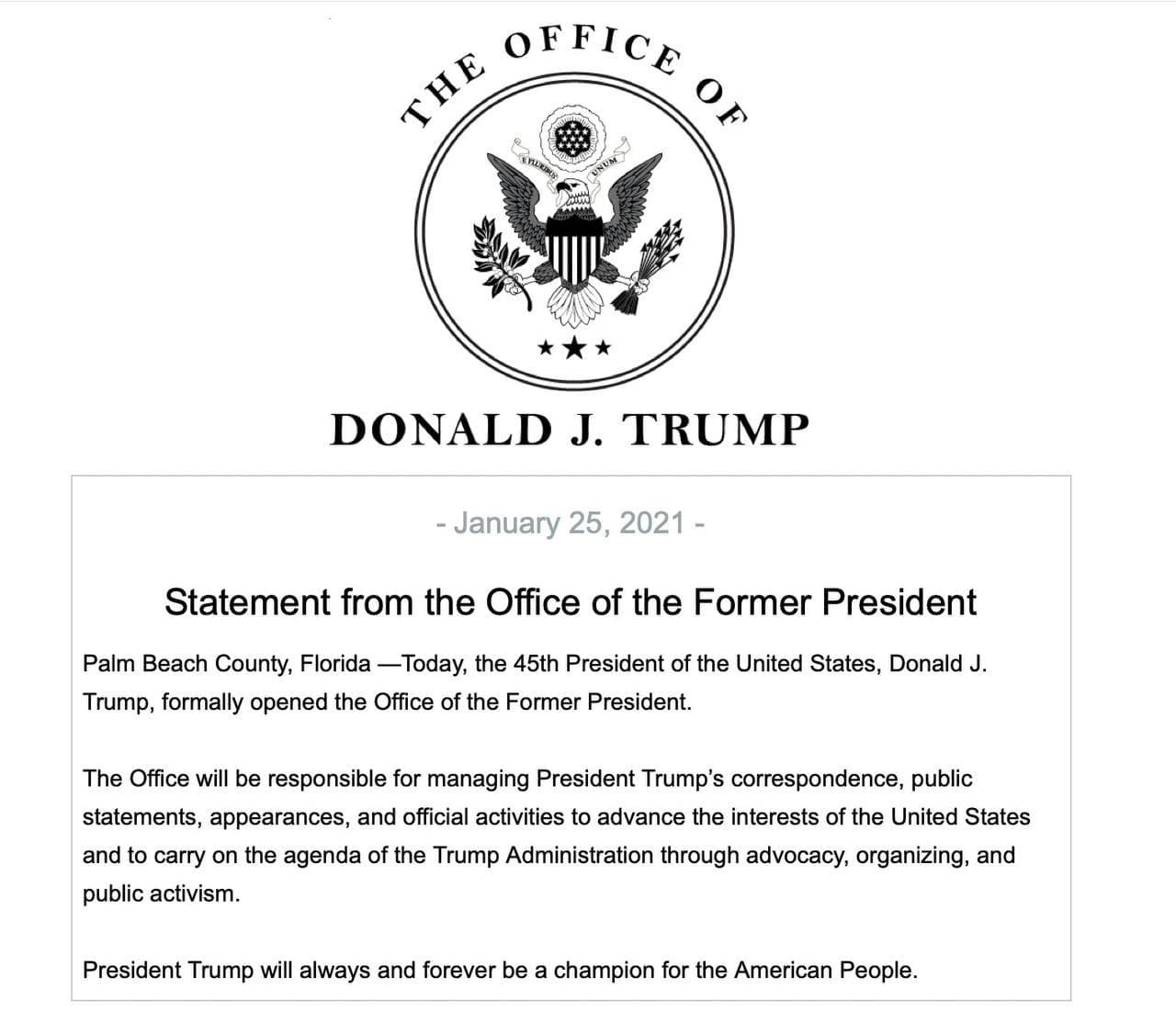 president trump speaks out
