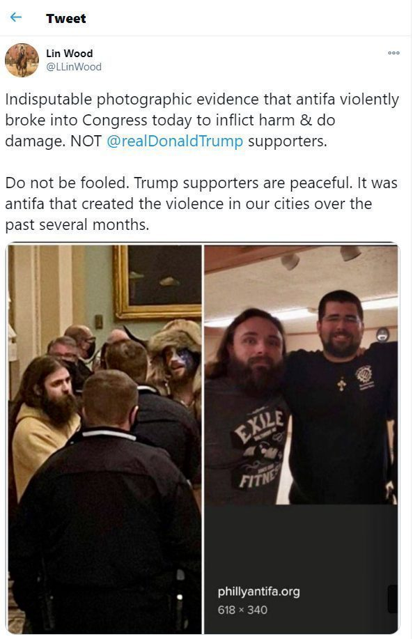 who helped antifa storm the capitol
