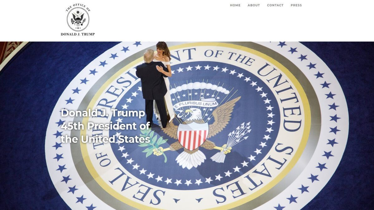 Donald Trump Launches 'Official Website Of The 45th President'
