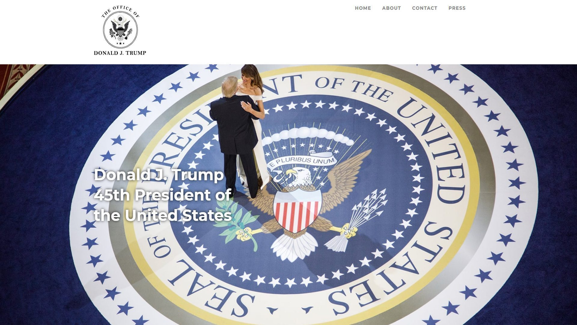 donald trump launches official website of the 45th president