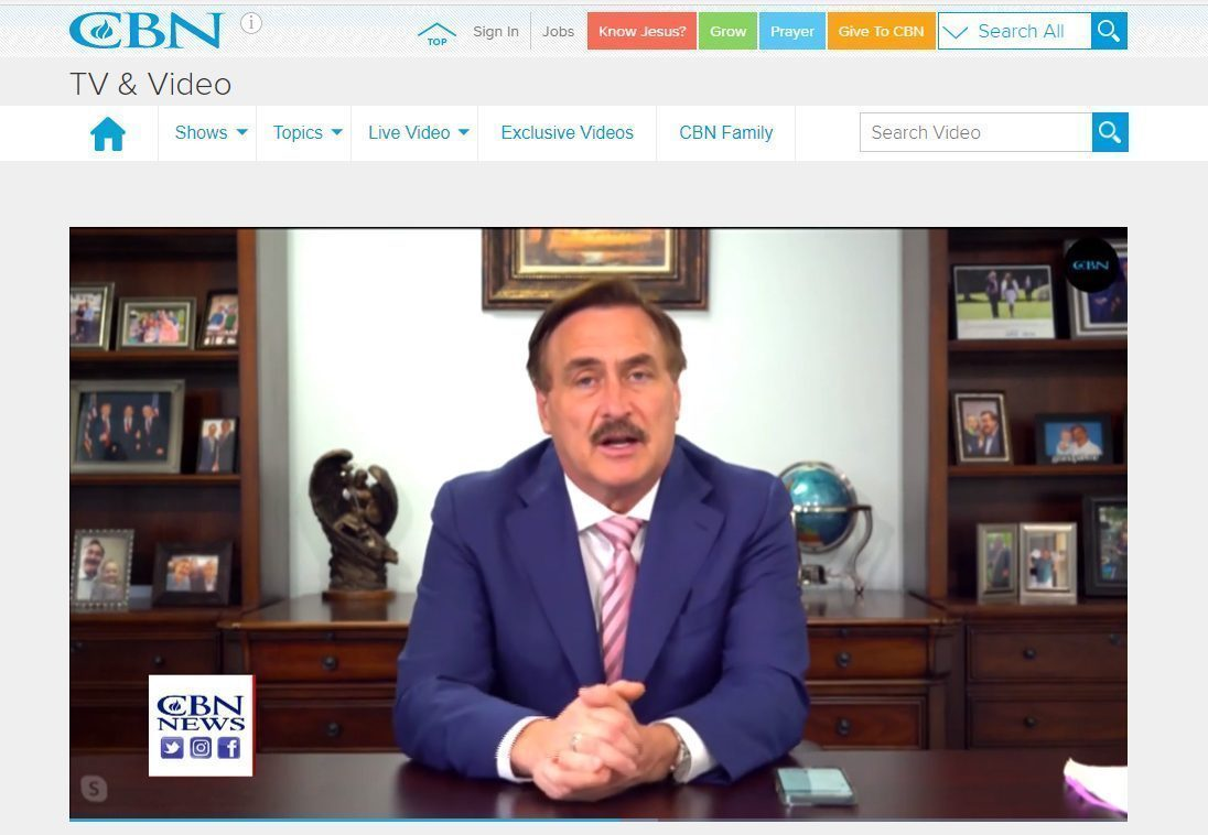mike lindell announces his new social media website frank