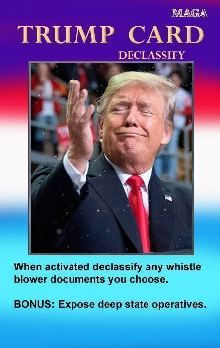 trump card declassify