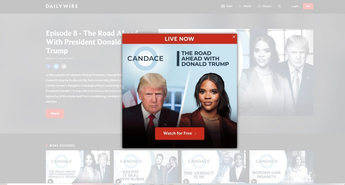 PRESIDENT TRUMP WITH CANDACE OWENS...WATCH LIVE NOW!