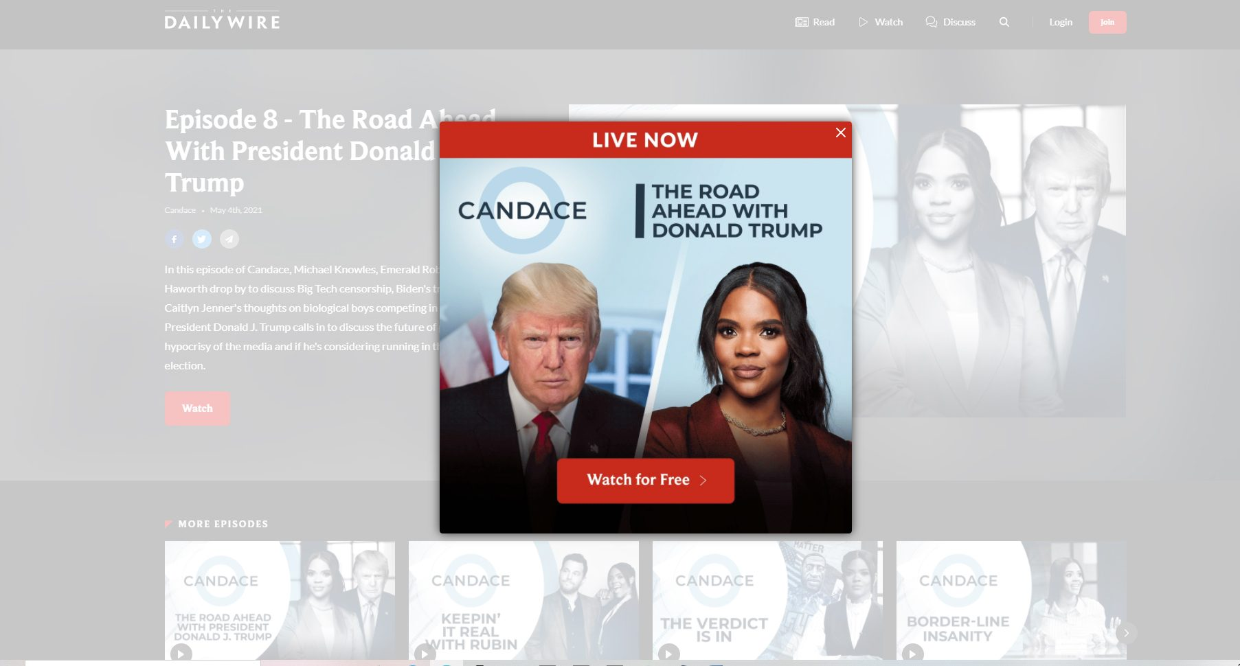 president trump with candace owenswatch live now