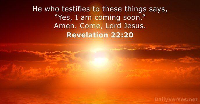 revelation 22 20