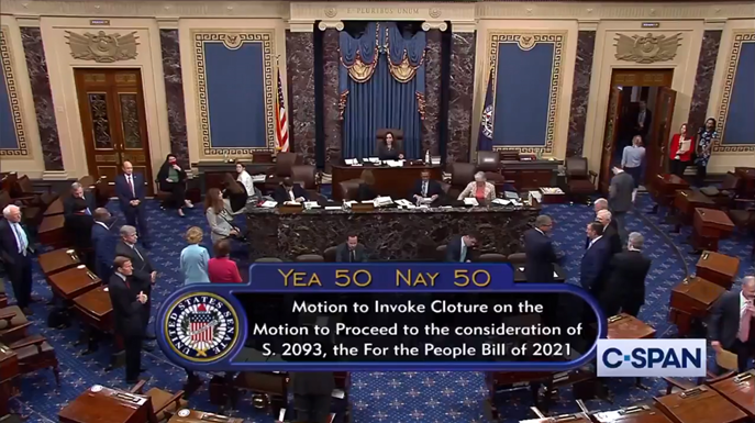 unconstitutional for the people act dead in the senate