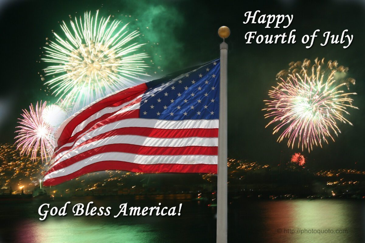 Happy Fourth Of July God Bless America